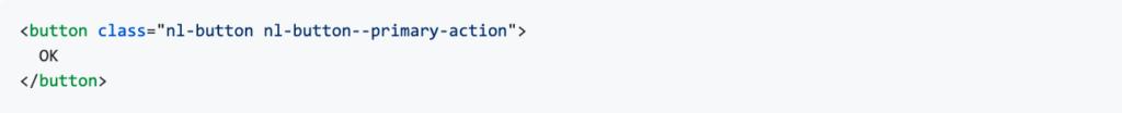 Een button in een HTML template van bijvoorbeeld een CMS of een Angular template