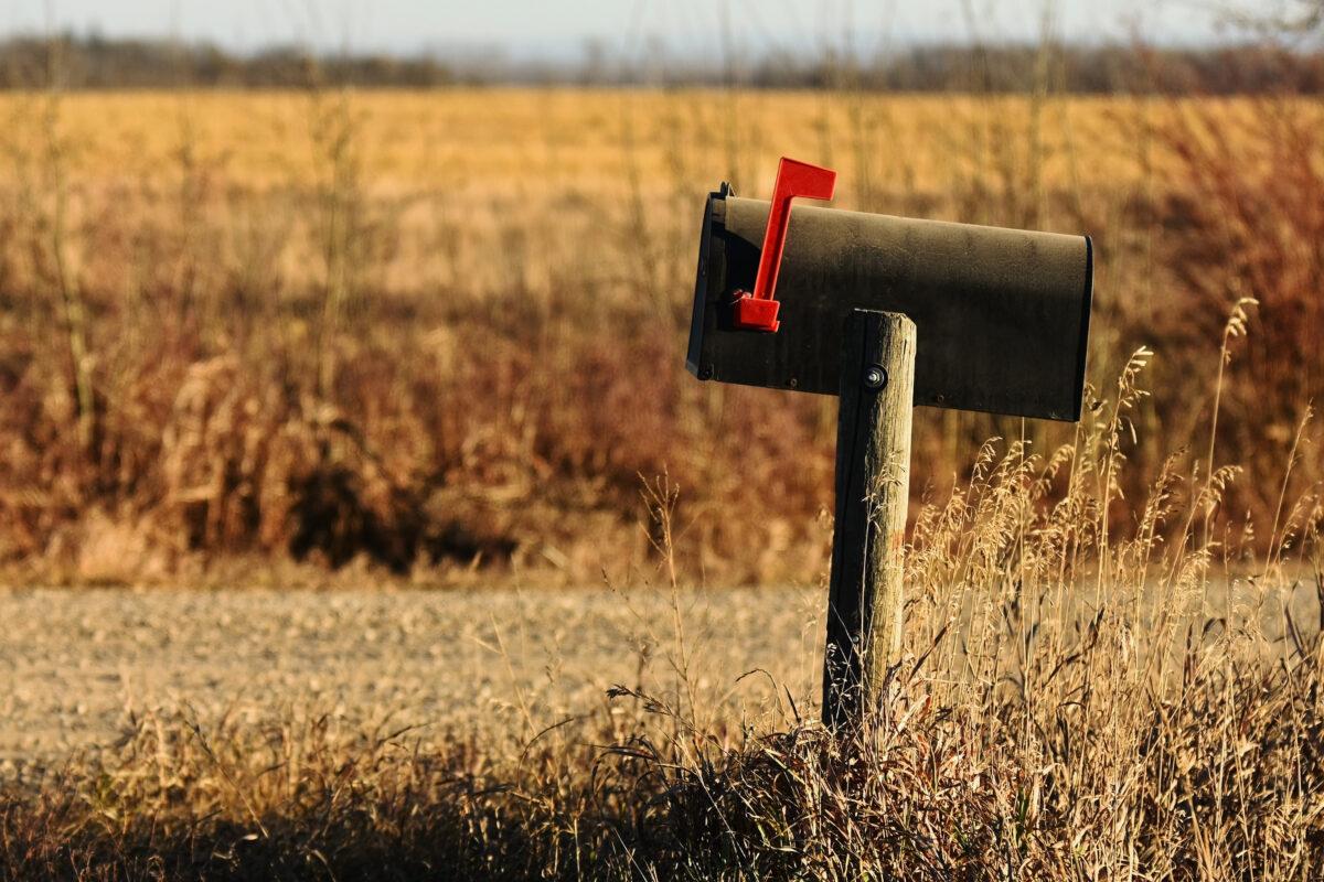 Foto van oude brievenbus